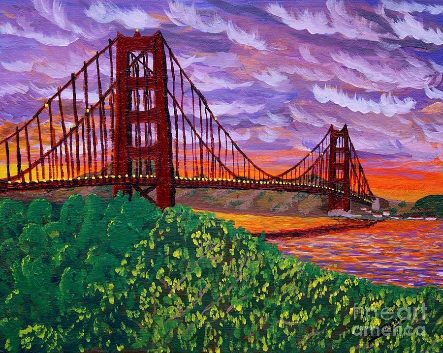 Golden Gate Bridge at Sunset by Vicki Maheu