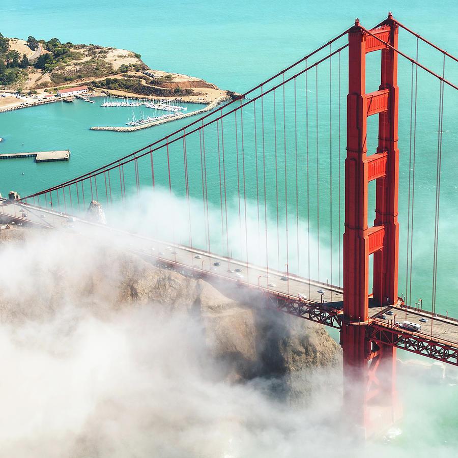 Golden Gate Bridge Photograph by Franckreporter