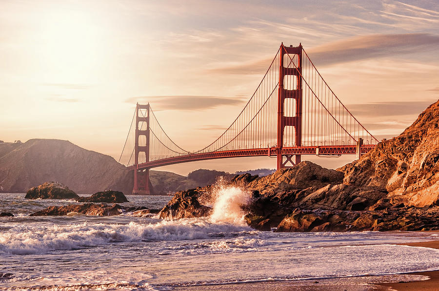 Golden Gate Bridge From Baker Beach Photograph by Karsten May