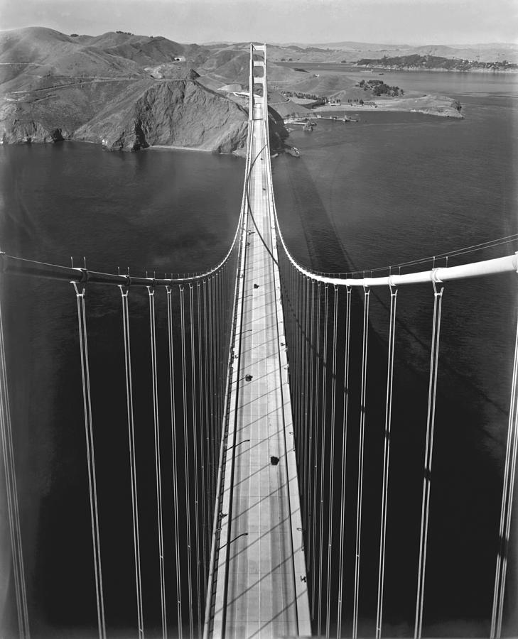 1930's Photograph - Golden Gate Bridge In 1937 by Underwood Archives