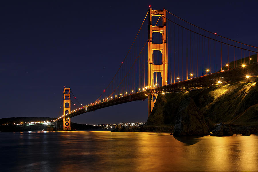 Golden Gate Bridge on a Fogless Night by Rick Pisio