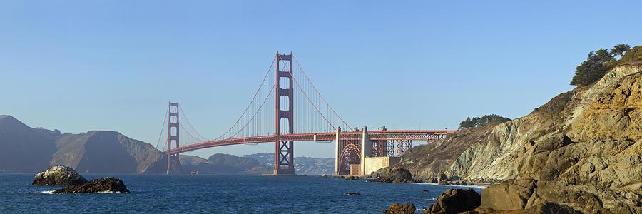 America Photograph - Golden Gate Bridge Panoramic by Melanie Viola