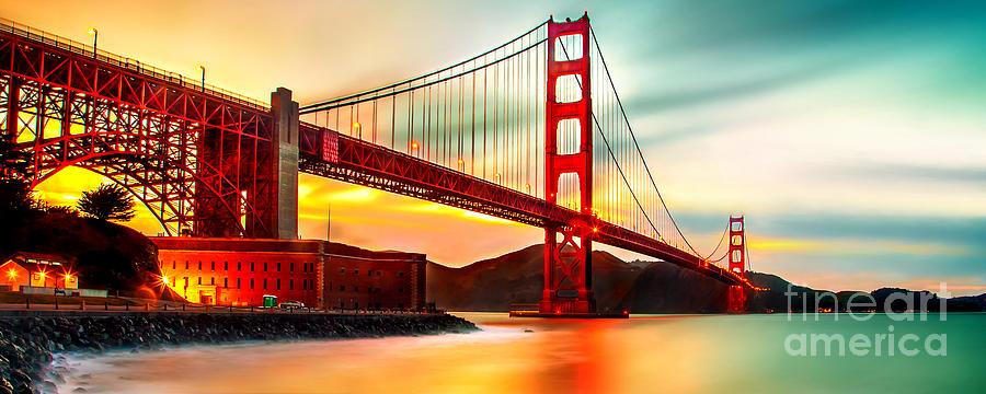 Golden Gate Bridge Photograph - Golden Gate Sunset by Az Jackson