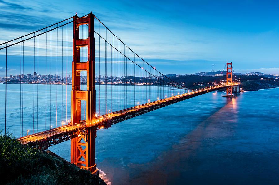 Golden Gate Bridge Sunrise San Francisco California USA Photograph by Mlenny
