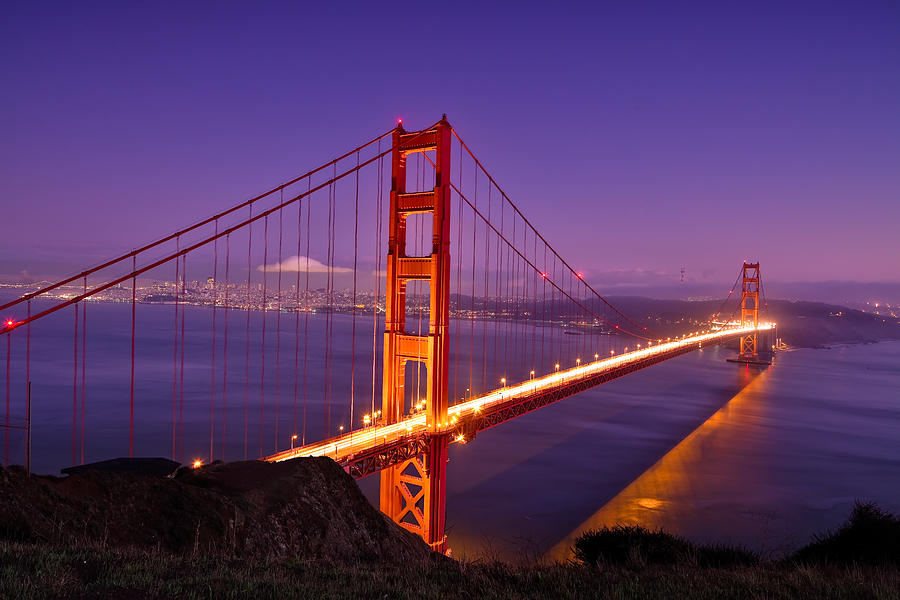 Golden Gate Bridge Sunset Photograph By Chris Moore