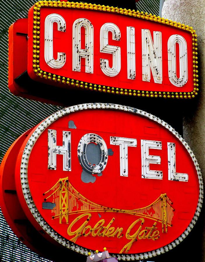 Golden Gate Casino Hotel Photograph - Golden Gate Casino Hotel by Randall Weidner