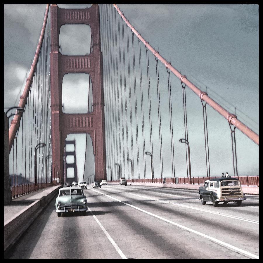Golden Gate Bridge Photograph - Golden Gate Crossing by Eric  Bjerke Sr