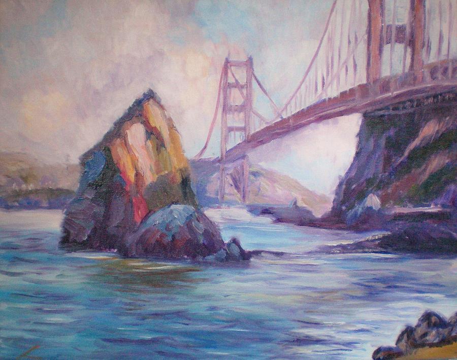 Landscape Painting - Golden Gate by Elena Sokolova