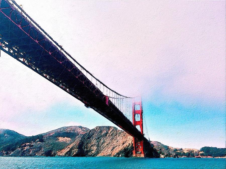 Golden Gate In The Clouds by Florian Rodarte