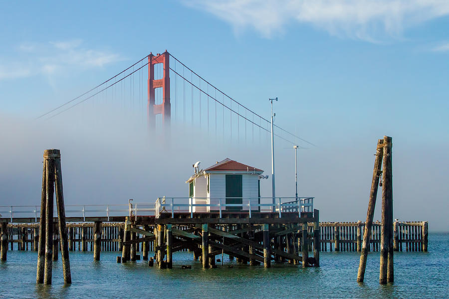 Fog Photograph - Golden Gate In The Fog by Bill Gallagher