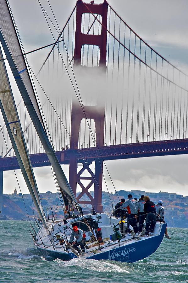 Sailing Photograph - Golden Gate Sailing by Steven Lapkin