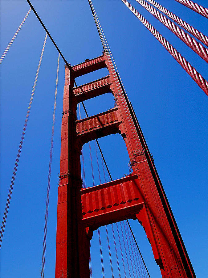 Golden Gate Bridge Photograph - Golden Gate Tower by Rona Black