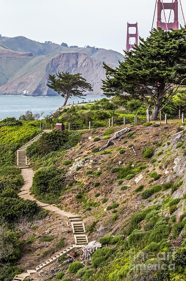 Hdr Photograph - Golden Gate Trail by Kate Brown