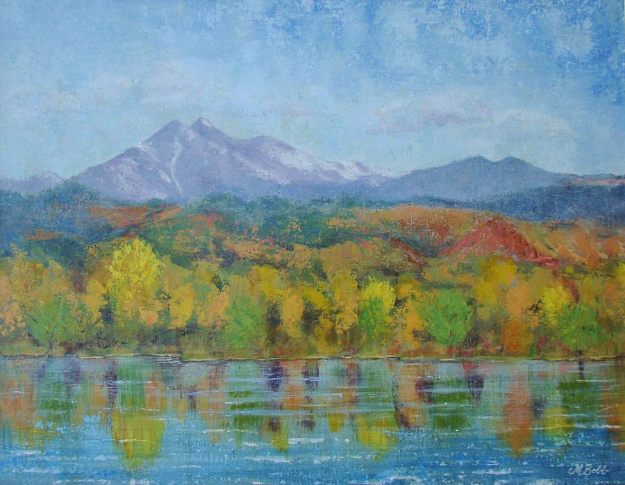 Landscape Painting - Golden Glory at Golden Ponds by Margaret Bobb