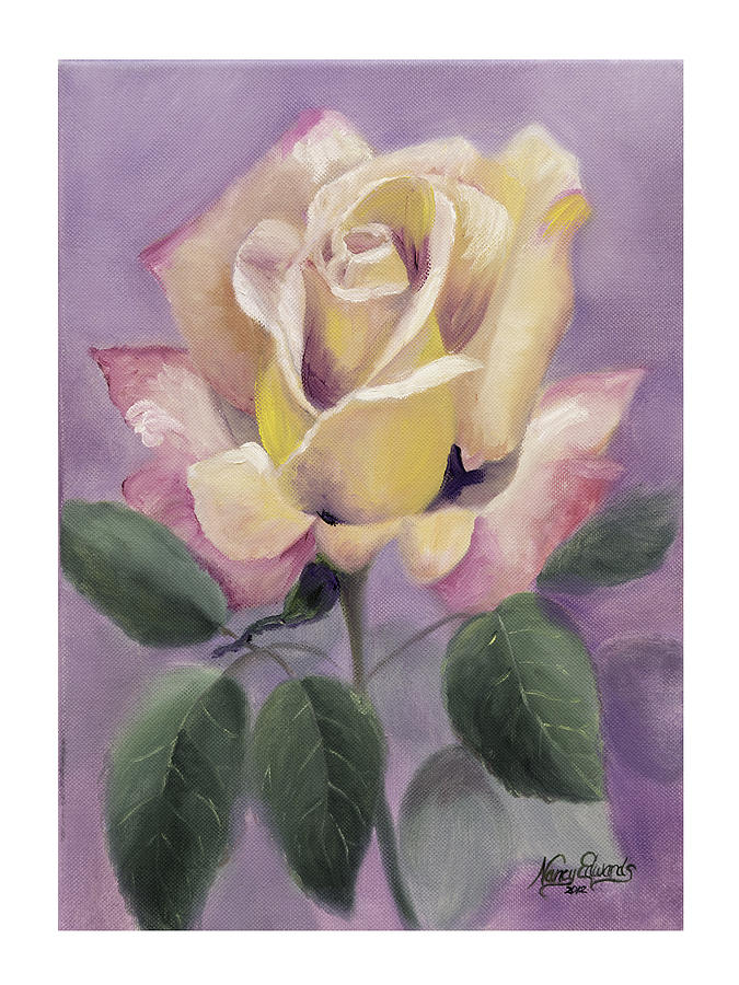 Flower Painting - Golden Glory by Nancy Edwards
