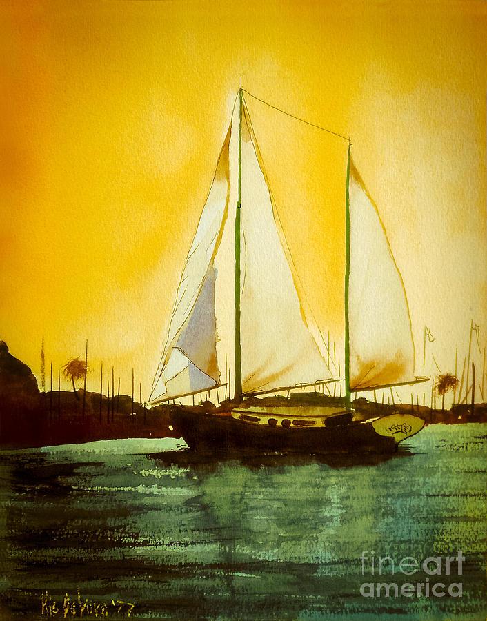 Kip Devore Painting - Golden Harbor  by Kip DeVore