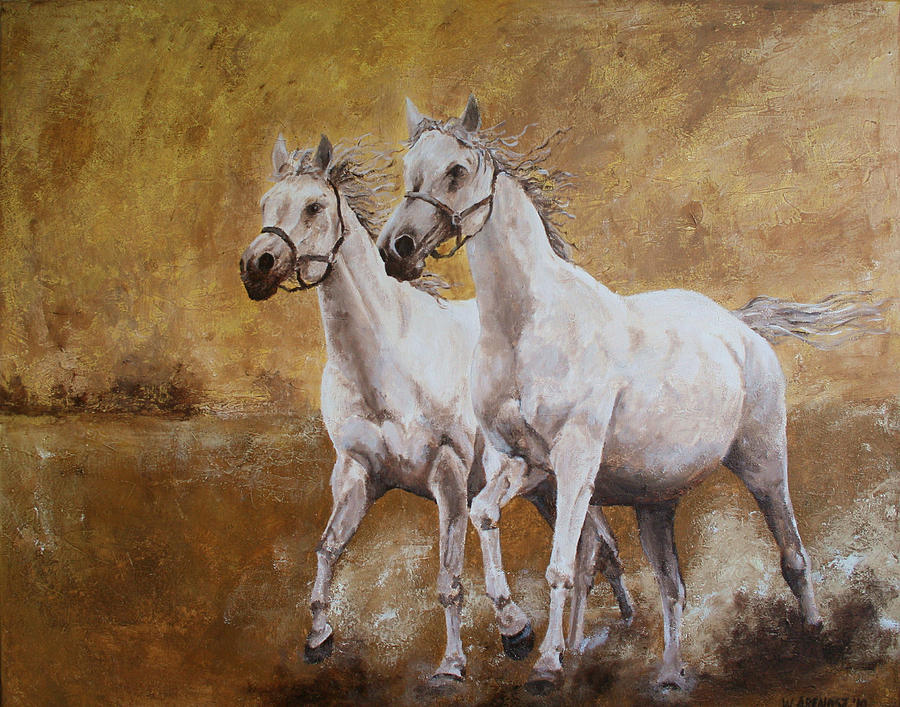 Horse Painting - Golden Horses by Willem Arendsz