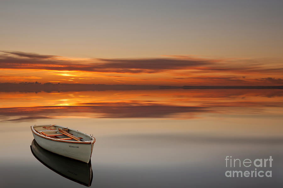 Boat Photograph - Golden Hour by Bahadir Yeniceri