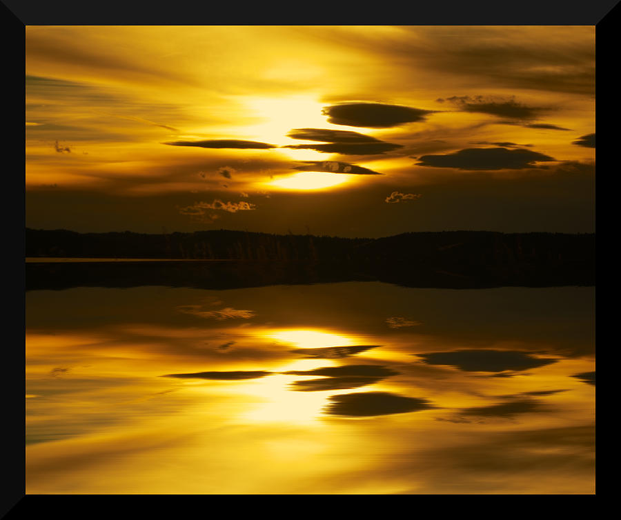 Sunset Photograph - Golden by Kevin Bone