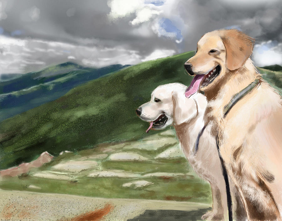 Landscape Painting - Golden Lab by Eric Smith