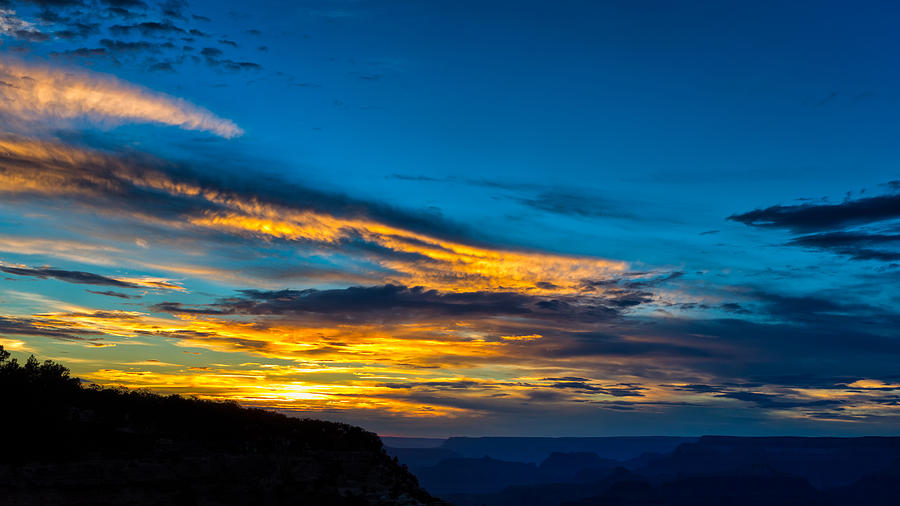 Golden Light Over the Grand Canyon by John M Bailey
