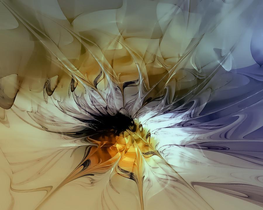 Digital Digital Art - Golden Lily by Amanda Moore
