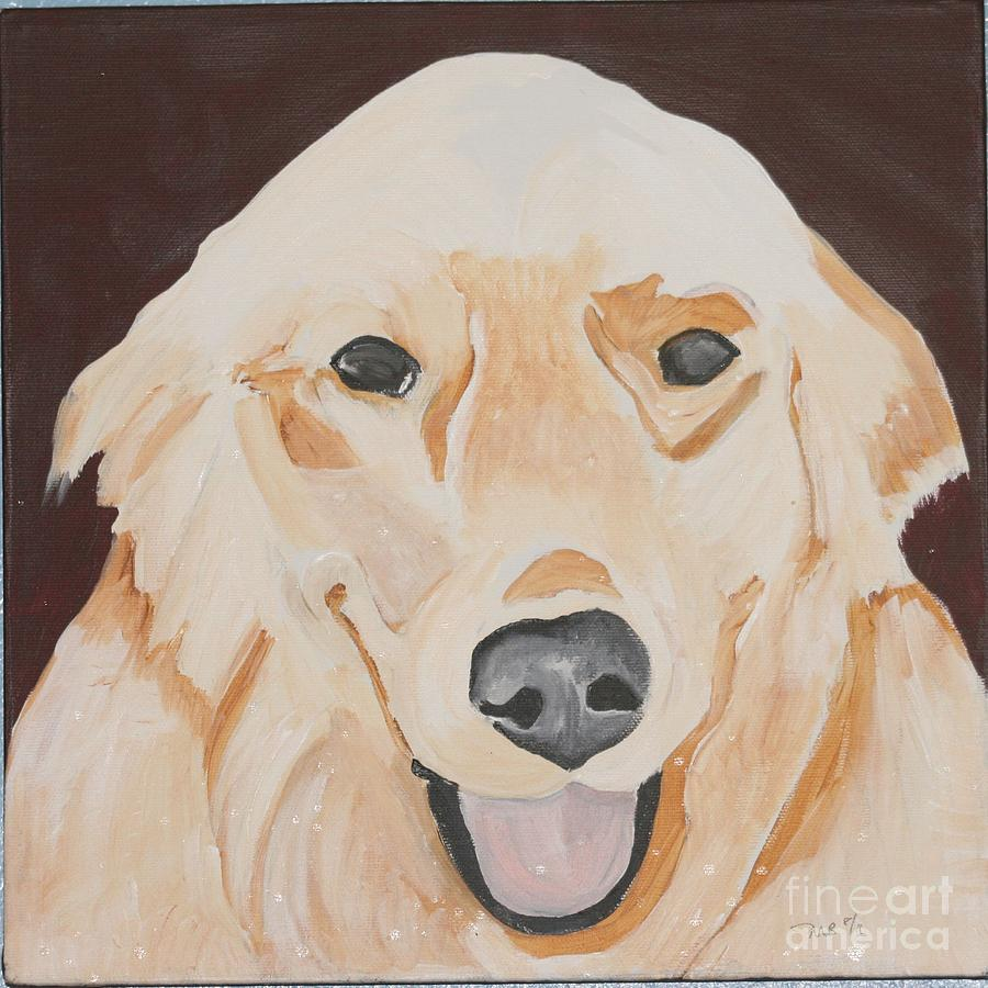 Dog Painting - Golden  by Meredith Brooks
