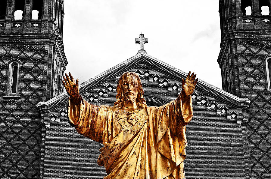 Jesus Photograph - Golden Messiah by Andy Crawford