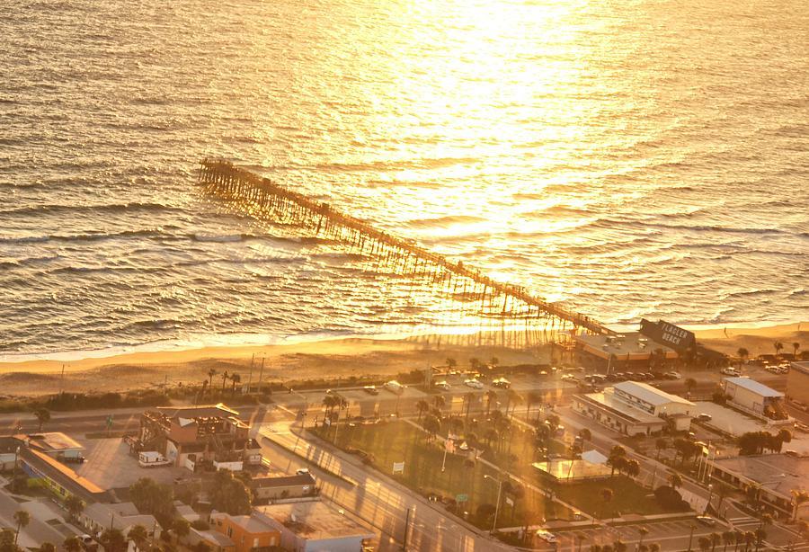 Pier Photograph - Golden Morning At The Pier by David Jordan