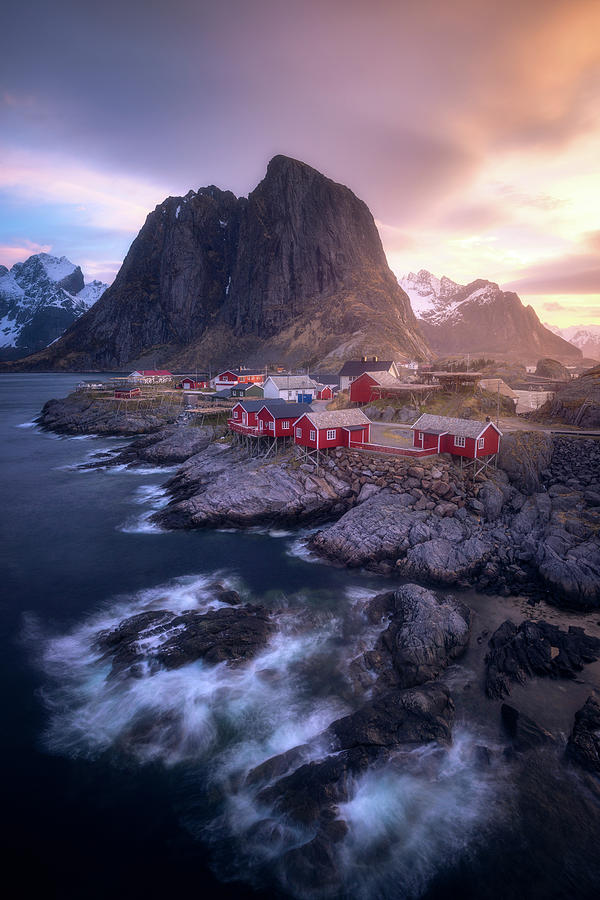 Landscape Photograph - Golden Morning In Hamnoy by Daniel F.