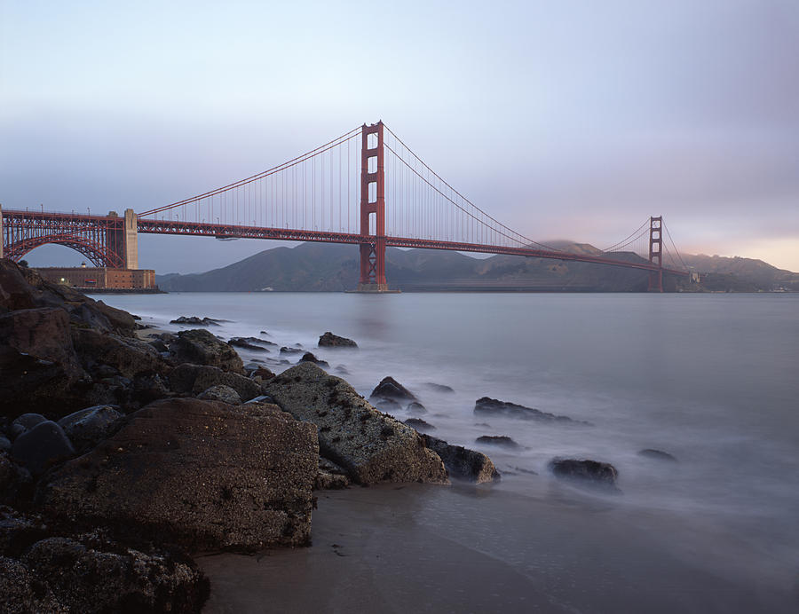 Golden Gate Bridge Photograph - Golden Morning by Tony Santo