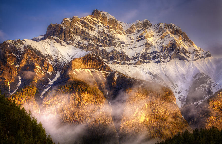 Banff Photograph - Golden Mountain by Stuart Deacon