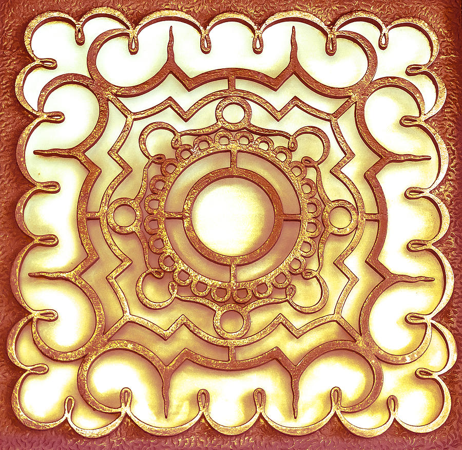 Shape Photograph - Golden Ornamental Design. by Slavica Koceva