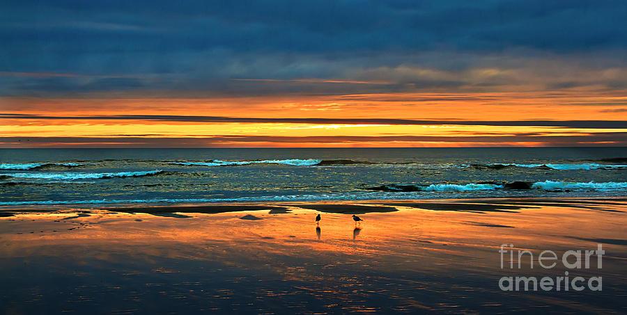 Sunset Photograph - Golden Pacific by Robert Bales
