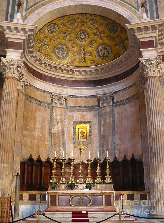 Pantheon Photograph - Golden Pantheon Altar by Carol Groenen