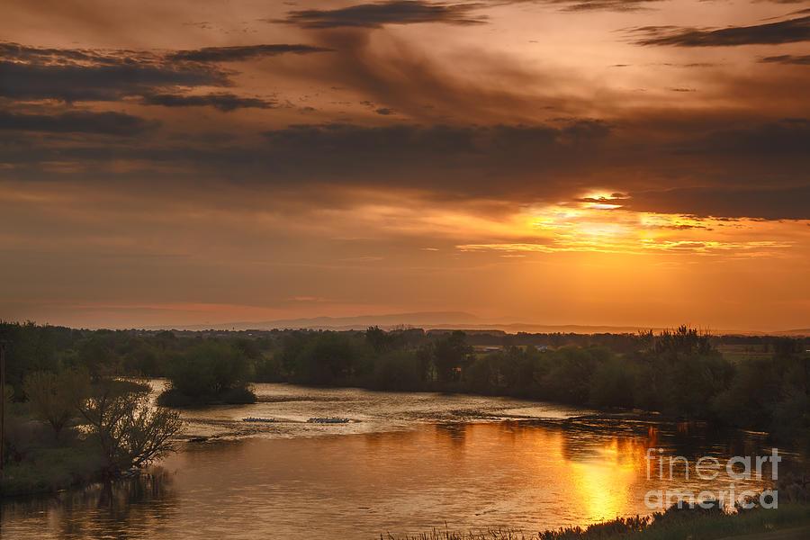 Sunset Photograph - Golden Payette River by Robert Bales