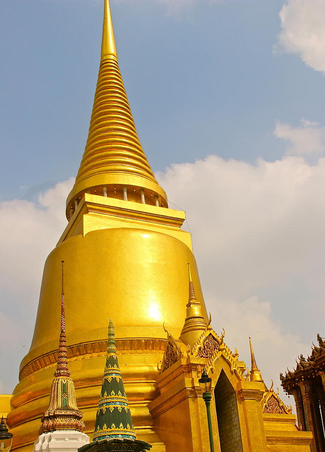 Grand Palace Photograph - Golden Peaks by  Rick Myers