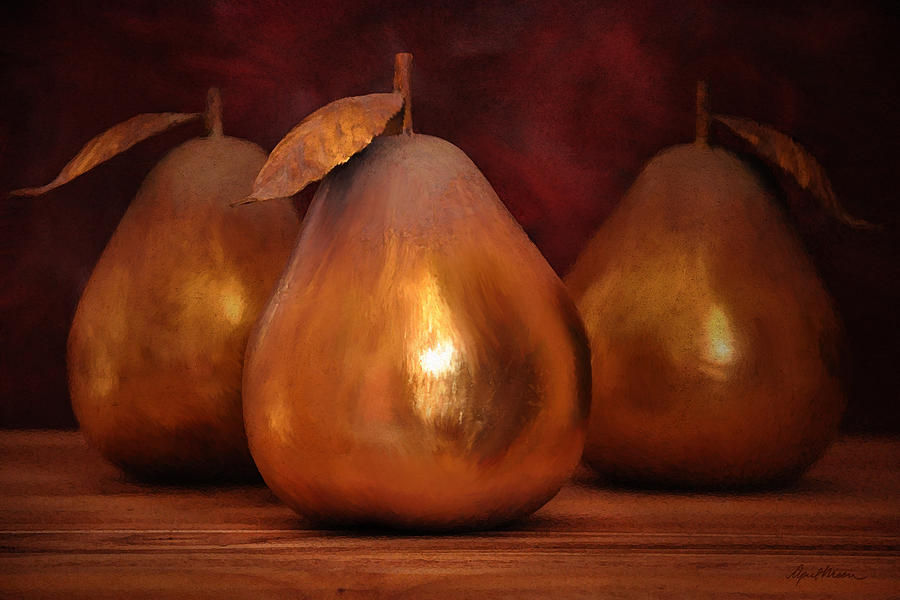 Golden Pears I by April Moen