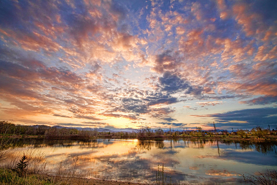 Clouds Photograph - Golden Ponds Scenic Sunset Reflections 4 by James BO  Insogna