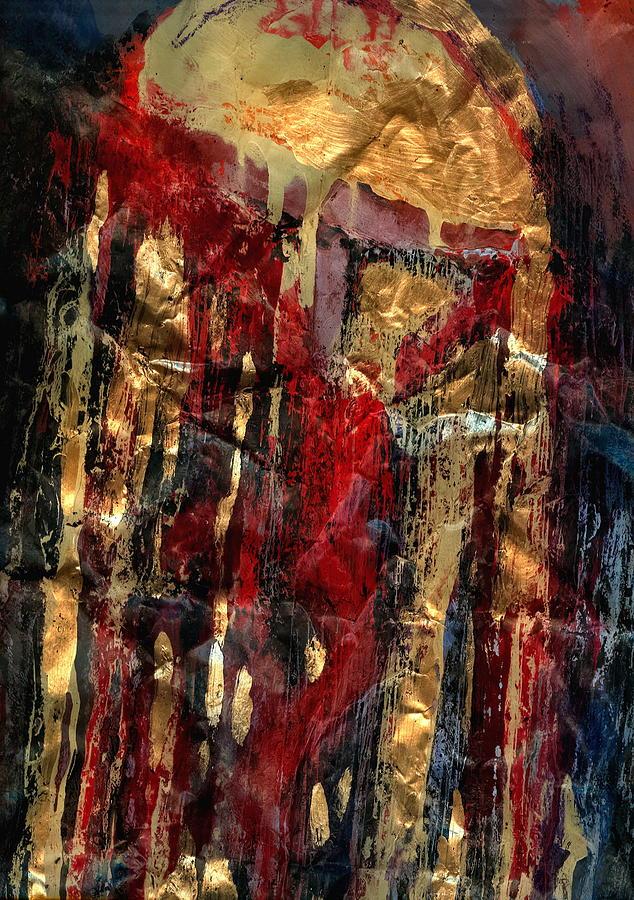Crucifixion Painting - Golden Rain by Daniel Bonnell