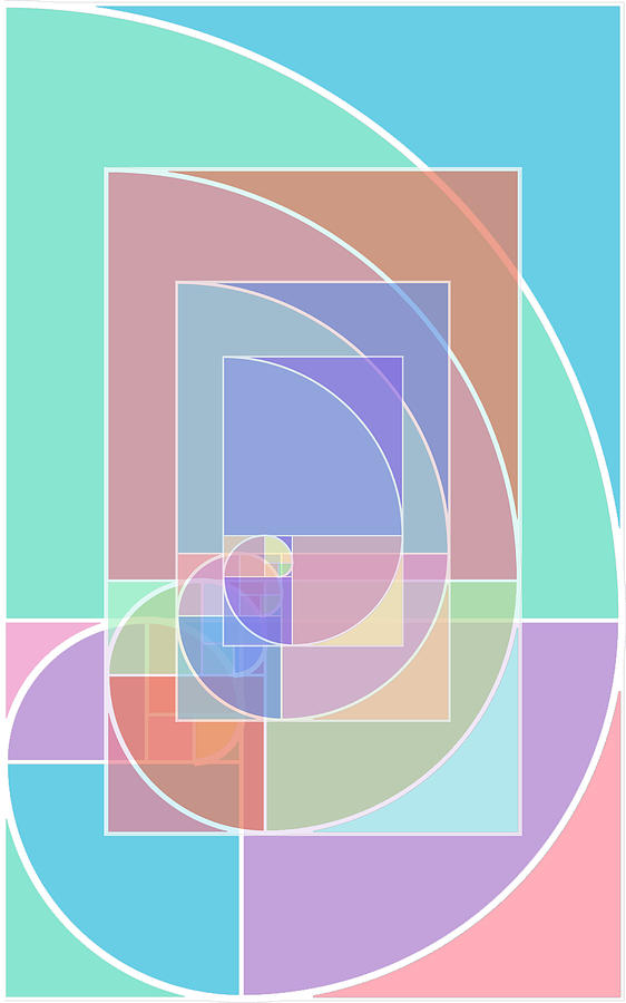 Abstract Painting - Golden Ratio Abstract by Tony Rubino