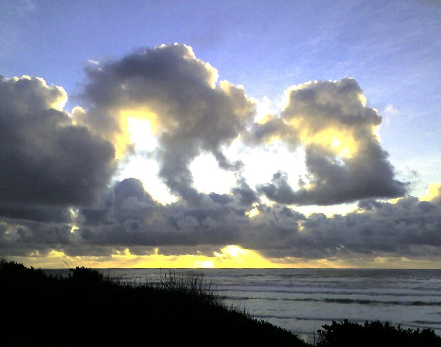 Clouds Photograph - Golden Ray by Heather L Wright