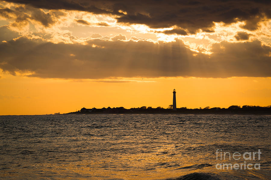 Cape May Photograph - Golden Rays At Cape May by Michael Ver Sprill