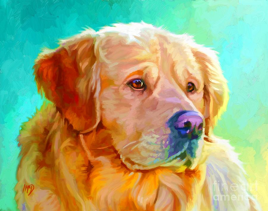 Dog Painting - Golden Retriever Art by Iain McDonald