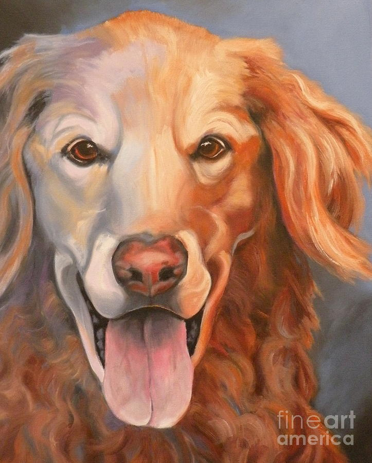Dogs Painting - Golden Retriever Till There Was You by Susan A Becker
