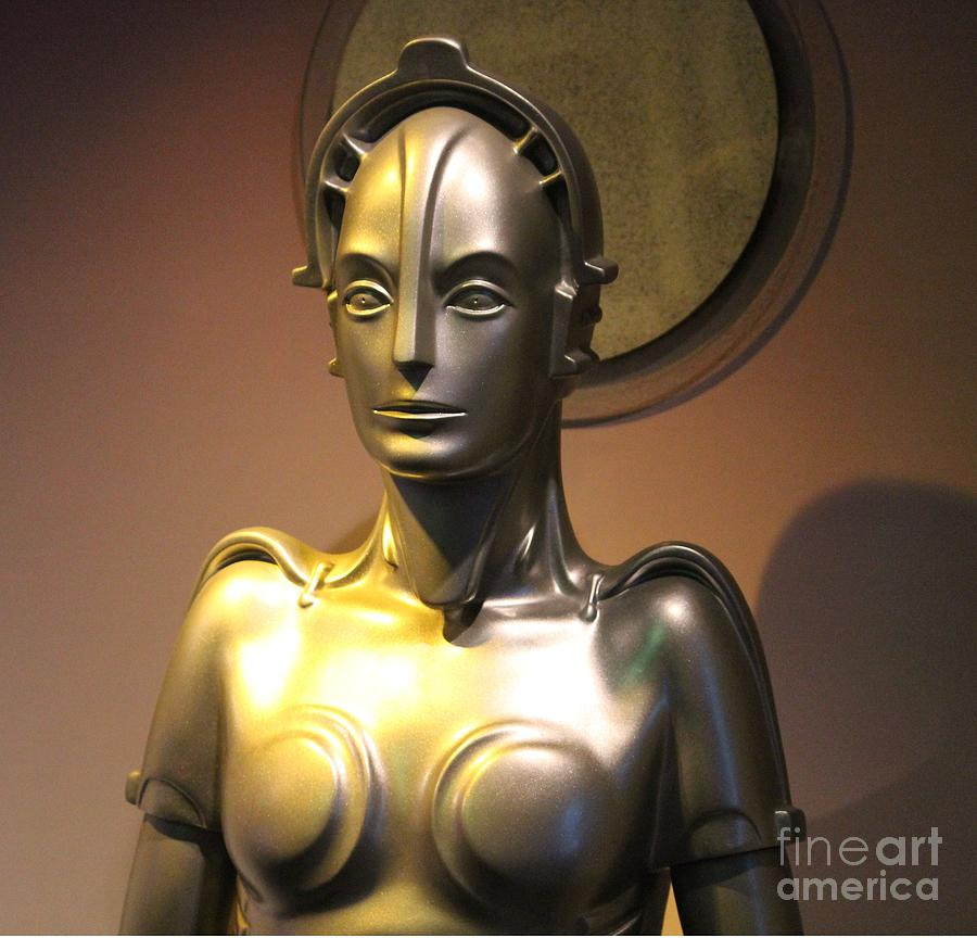 Golden Photograph - Golden Robot Lady by Cynthia Snyder