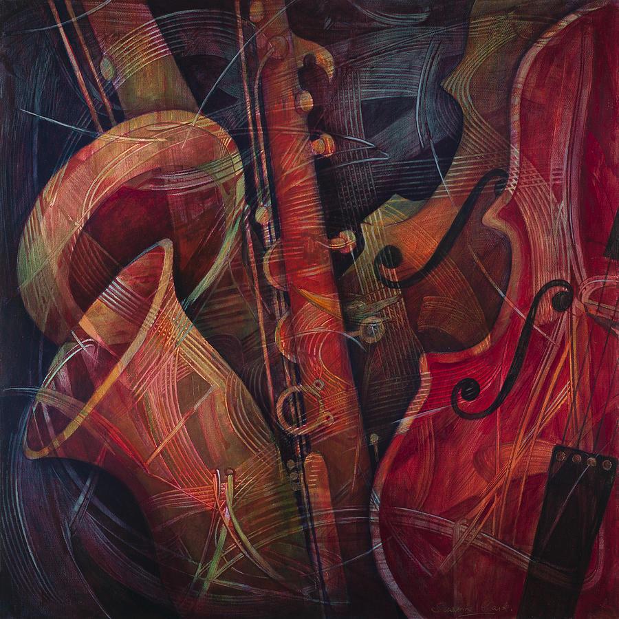 Saxophone Painting - Golden Sax by Susanne Clark