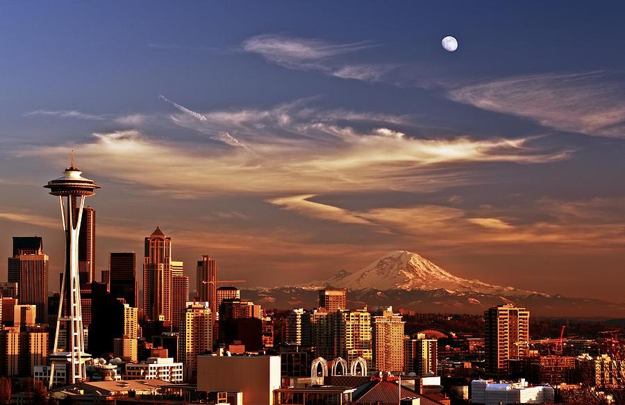 Golden Seattle Photograph