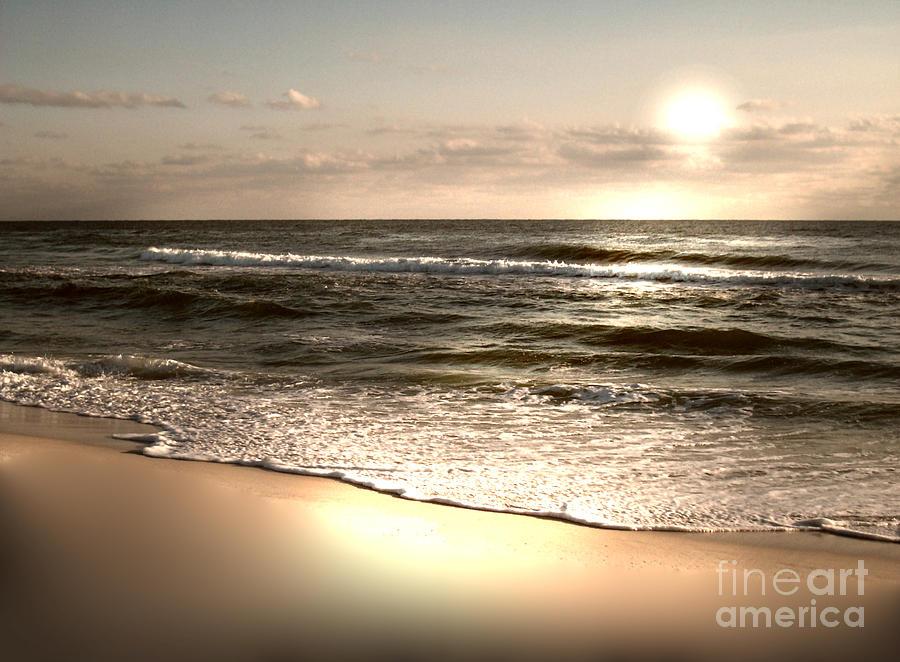 Golden Sand Photograph - Golden Shoreline by Jeffery Fagan