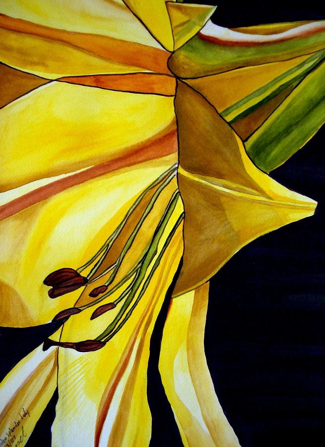 Lily Painting - Golden Splendor lily by Sacha Grossel